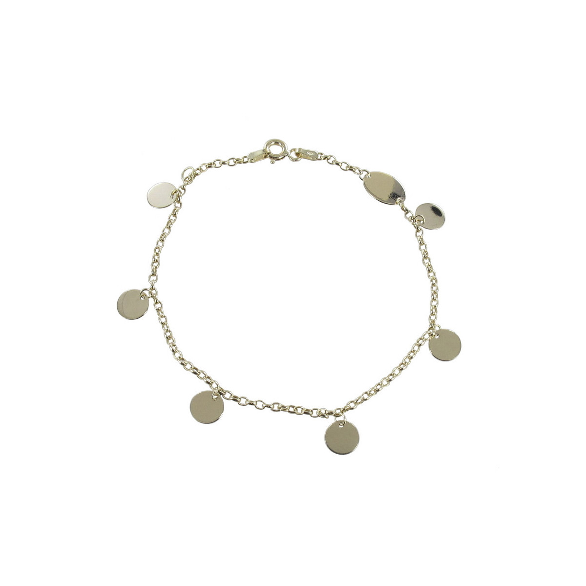 GOLD BRACELET WITH ENGRAVING PLATES