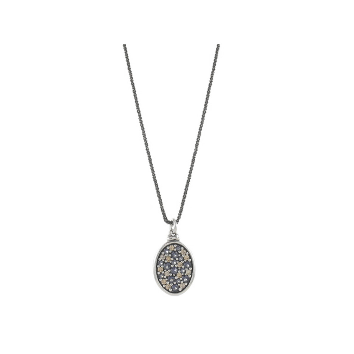SILVER NECKLACE AND NATURAL STONES
