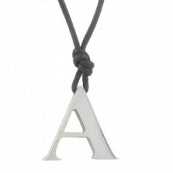 LEATHER NECKLACE SILVER PENDANT