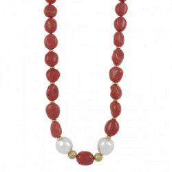 COLLAR OR CORALL I PERLES