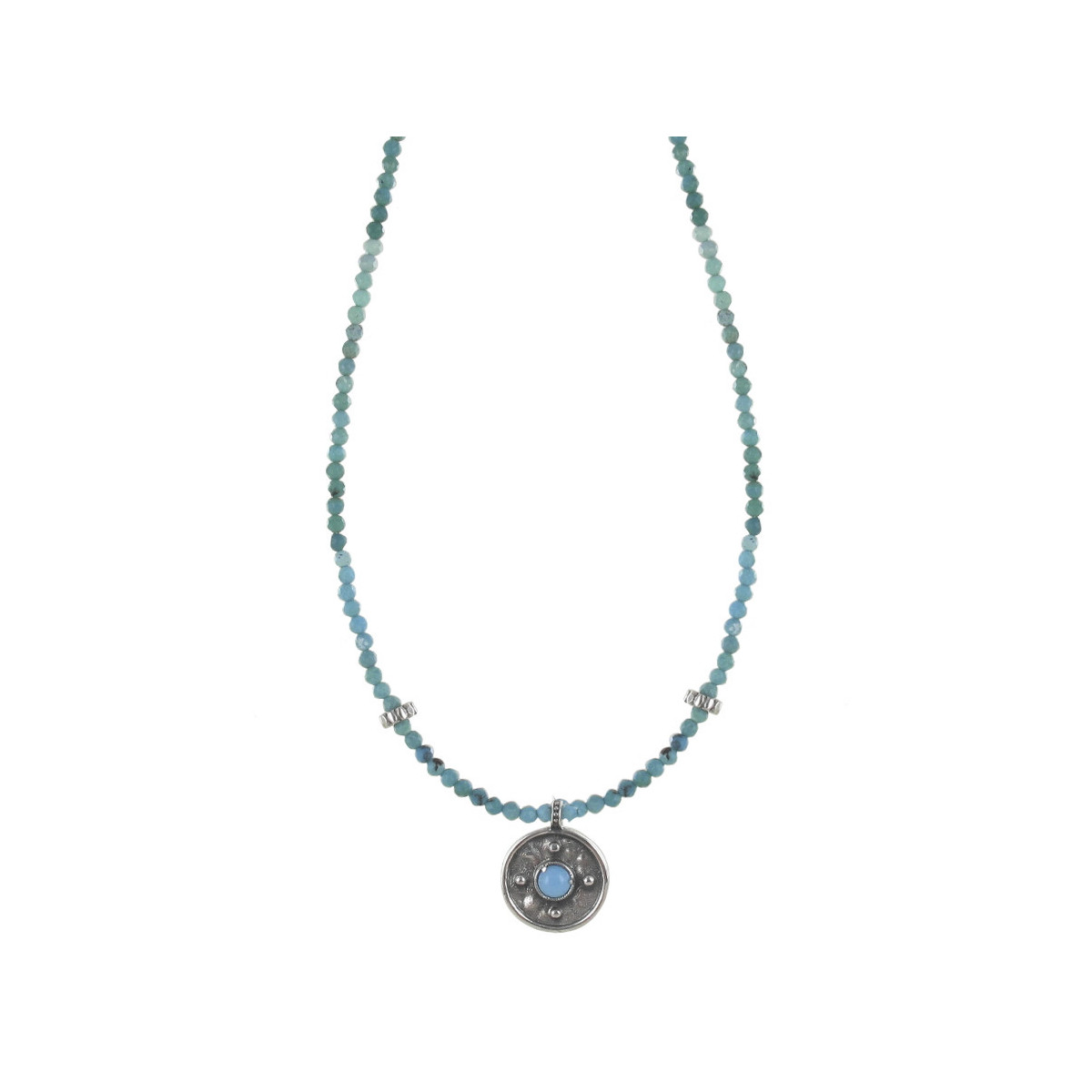 SHORT NECKLACE WITH TURQUOISES