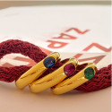 GOLD RING WITH OVAL SAPPHIRE OF 0.50 KTES