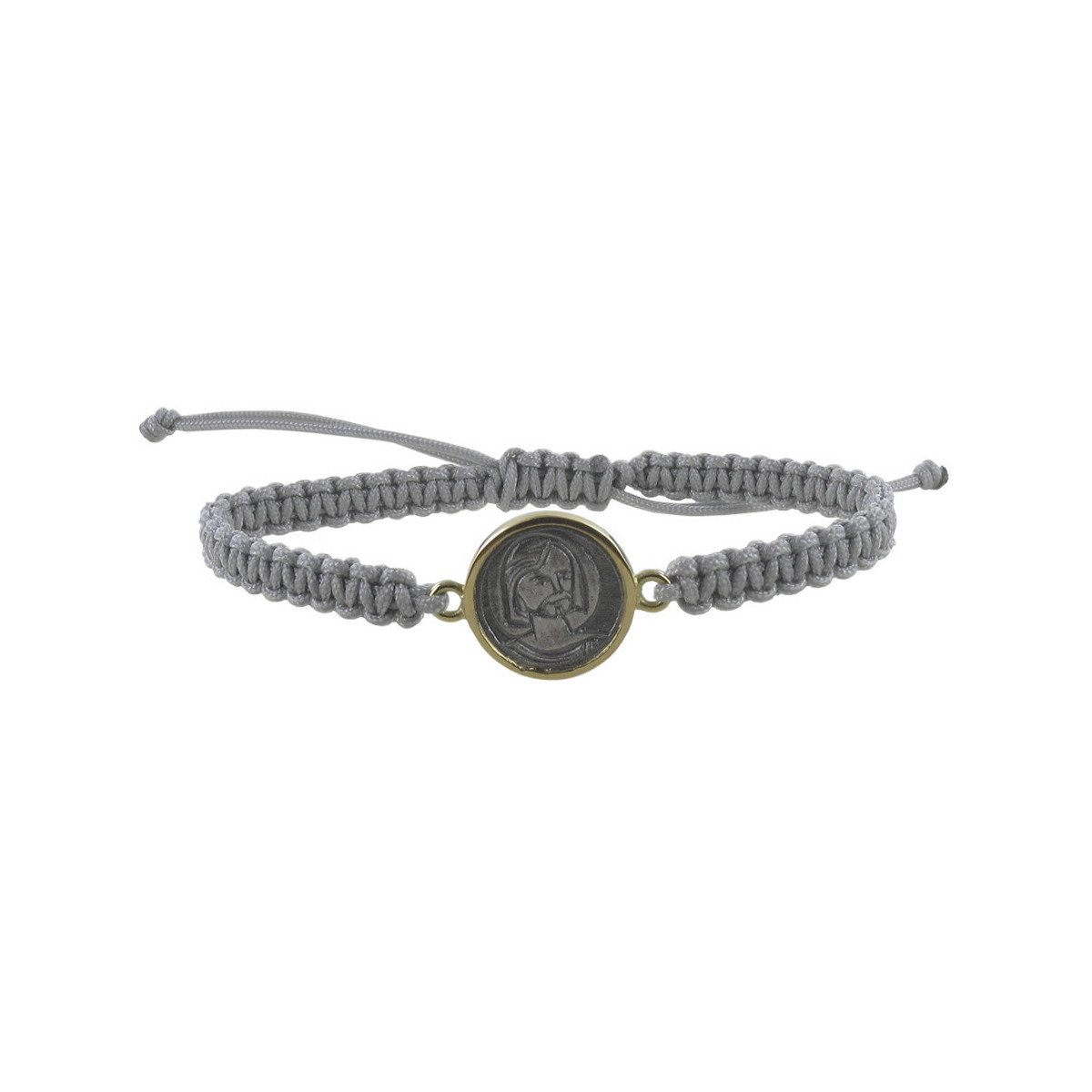 BRACELET WITH SILVER AND GOLD SCAPULAR